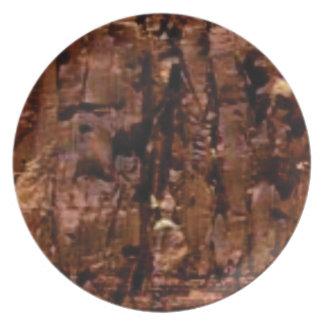 Prato crumble marrom da rocha