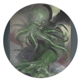 Prato Cthulhu cavalo-força de aumentação Lovecraft