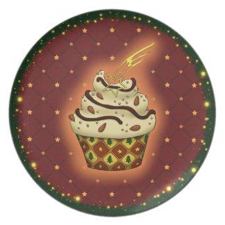 Prato Cupcake delicada com amêndoas