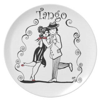 Prato Dançarinos do tango de Tangueritos