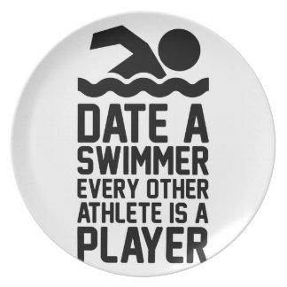 Prato Date um nadador