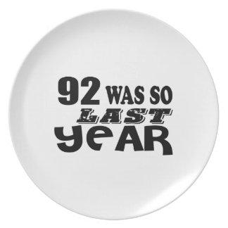 Prato De Festa 92 era assim tão no ano passado o design do