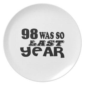 Prato De Festa 98 era assim tão no ano passado o design do