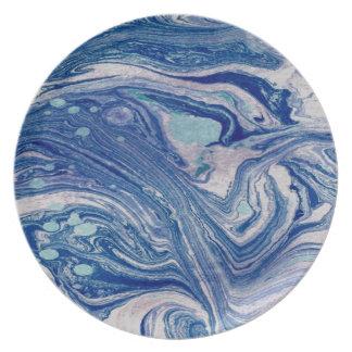 Prato De Festa Abstrato misturado da placa da melamina da arte