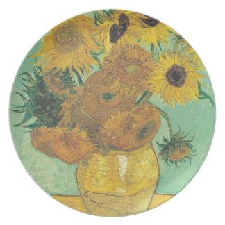 Prato De Festa Ainda vida: Girassóis - Vincent van Gogh