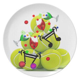 Prato De Festa Alegria da música das bolas