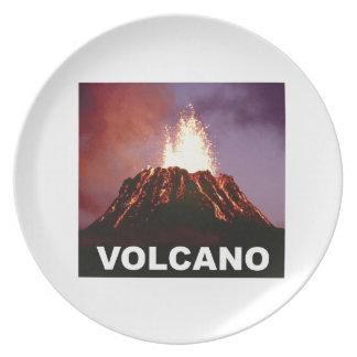 Prato De Festa Alegria do vulcão