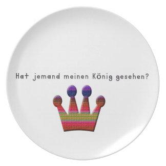 Prato De Festa Alemão - rei