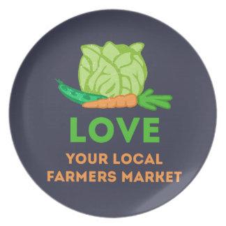 Prato De Festa Ame seu mercado local dos fazendeiros