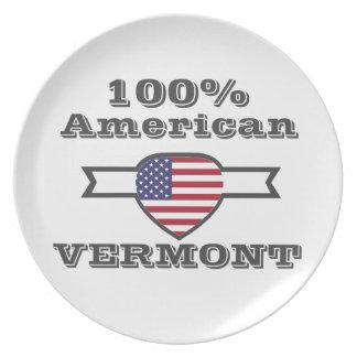 Prato De Festa Americano de 100%, Vermont