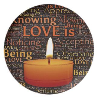 Prato De Festa Amor, citações da vela