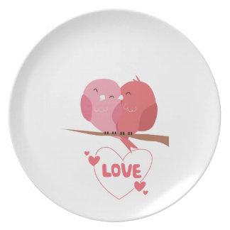 Prato De Festa Amor do pássaro
