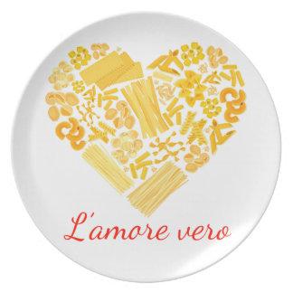 Prato De Festa Amor verdadeiro - bandeja italiana da massa
