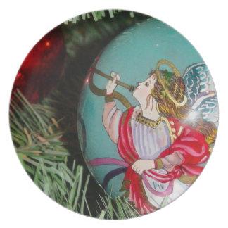Prato De Festa Anjo do Natal - arte do Natal - decorações do anjo