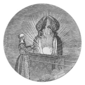 Prato De Festa Anjos sobre a arca da obrigação contratual