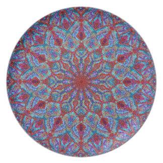 Prato De Festa arabesque colorido Boho-romântico do ornamento da