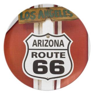 Prato De Festa Arizona EUA de Seligman da rota 66