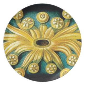 Prato De Festa arte amarela da explosão da flor