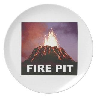 Prato De Festa arte do poço do fogo