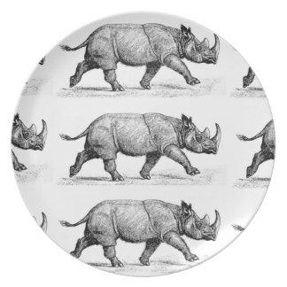Prato De Festa Arte Running dos Rhinos