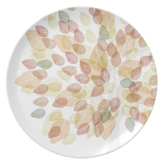 Prato De Festa Árvore de vidoeiro em cores da queda
