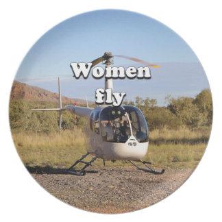 Prato De Festa As mulheres voam: Helicóptero 2 (brancos)