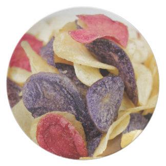 Prato De Festa Bacia de Fim-Acima misturado das microplaquetas de