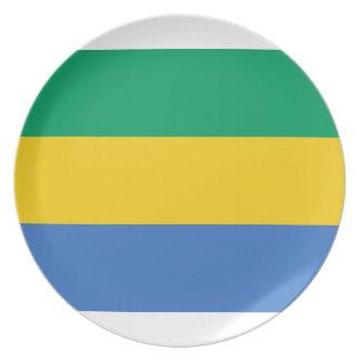 Prato De Festa Baixo custo! Bandeira de Gabon