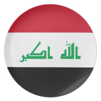 Prato De Festa Baixo custo! Bandeira de Iraque