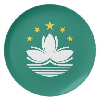Prato De Festa Baixo custo! Bandeira de Macau