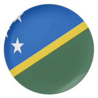 Prato De Festa Baixo custo! Bandeira de Solomon Island