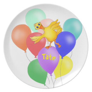 Prato De Festa Balões pelos Feliz Juul Empresa