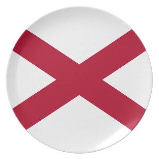 Prato De Festa Bandeira de Alabama