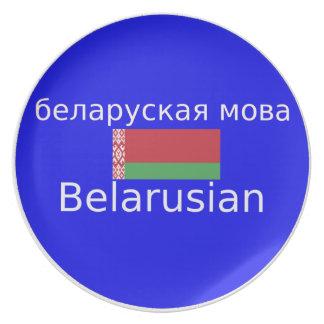 Prato De Festa Bandeira de Belarus e design da língua
