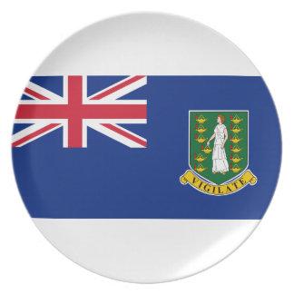 Prato De Festa Bandeira de British Virgin Islands