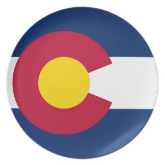 Prato De Festa Bandeira de Colorado