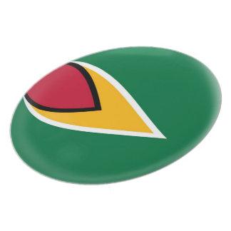 Prato De Festa Bandeira de Guyana Guyanan