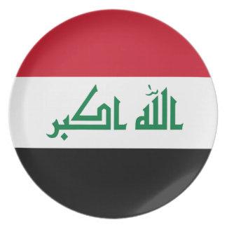 Prato De Festa Bandeira de Iraque