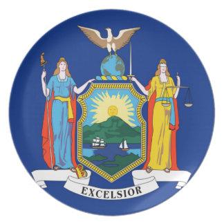 Prato De Festa Bandeira de New York