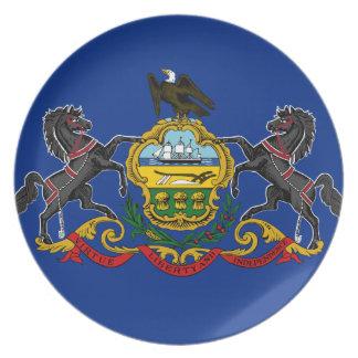 Prato De Festa Bandeira de Pensilvânia