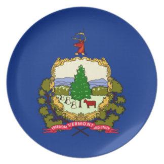 Prato De Festa Bandeira de Vermont