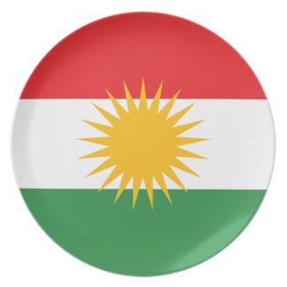Prato De Festa Bandeira do Curdistão; Curdo; Curdo