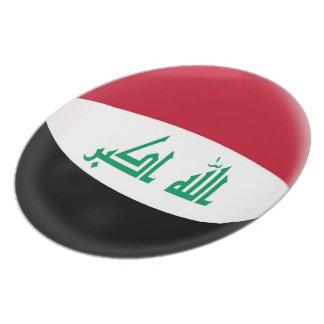 Prato De Festa Bandeira do iraquiano de Iraque