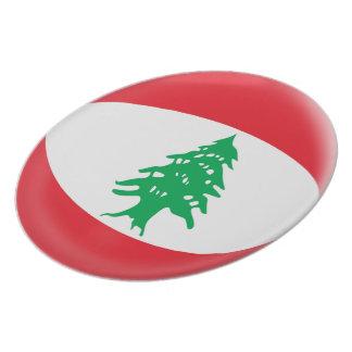 Prato De Festa Bandeira do libanês de Líbano