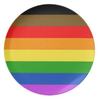 Prato De Festa Bandeira do orgulho de Philadelphfia