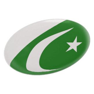 Prato De Festa Bandeira do paquistanês de Paquistão