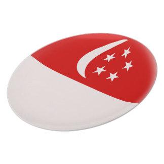 Prato De Festa Bandeira do singapurense de Singapore Singapura