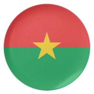 Prato De Festa Bandeira nacional do mundo de Burkina Faso