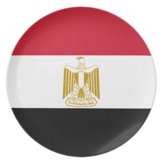 Prato De Festa Bandeira nacional do mundo de Egipto