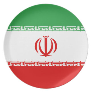 Prato De Festa Bandeira nacional do mundo de Irã